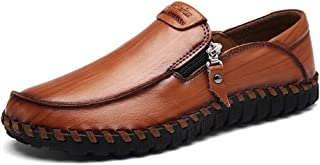 LEOVERA Men's Driving Shoes Leather Fashion Casual Boat Slip On Penny Loafer