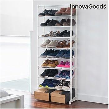 Innovagoods Meuble A Chaussures Avec Capacite 30 Paires Acrylique Blanc 50 X 135 X 25 Cm Amazon Fr Cuisine Maison