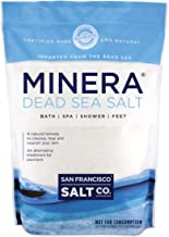 Minera Fine Grain Pure Dead Sea Salt, 10 lb (2 Pack - Each of 5 lb Bag)