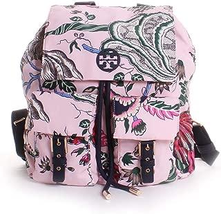 Tory Burch Tilda Printed Nylon Flap Backpack in Pink Happy Times