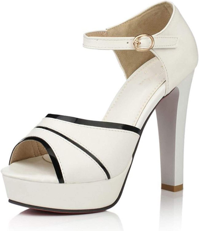 Woman Peep Toe Platform Comfort High Heels Summer shoes Woman Sandals Ankle Strap shoes