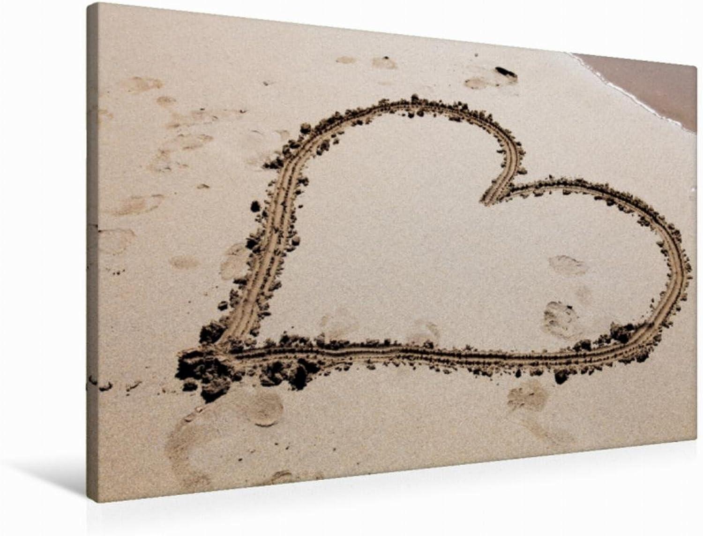 Calvendo Premium Textil-Leinwand 90 cm x 60 cm quer, Herz   Wandbild, Bild auf Keilrahmen, Fertigbild auf echter Leinwand, Leinwanddruck Hobbys Hobbys
