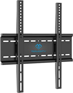 PERLESMITH Fixed TV Wall Mount Bracket with Low Profile Design for Most 26-47 Inch LED, LCD, OLED, Plasma Flat Screen TVs - Ultra Slim Fix Mounting Bracket with Max VESA 400x400mm Weight up to 115lbs