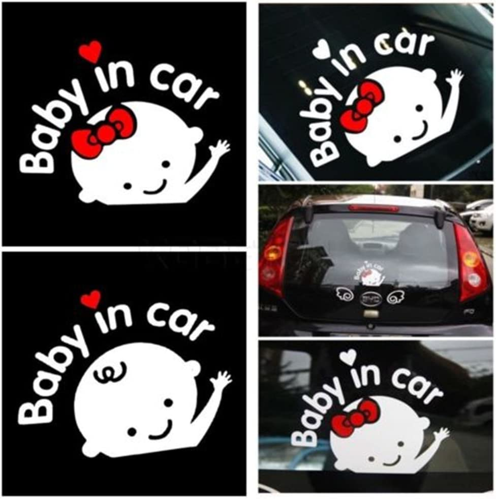 the passion Baby in Car Waving Sticker Baby on Board Sign for Car,Kids in car Decal Sticker Safety Sign Cute Car Decal Vinyl Car Sticker