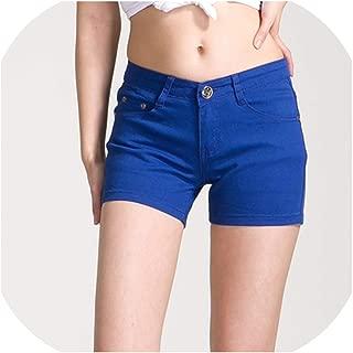 Mango-ice Summer Denim Shorts Cotton Slim Fit Ladyies Elastic Waist Sexy Female Short Jeans for Women