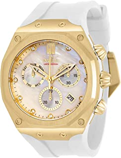 Invicta Men's JT Stainless Steel Quartz Watch with Silicone Strap, White, 32.5 (Model: 32561)