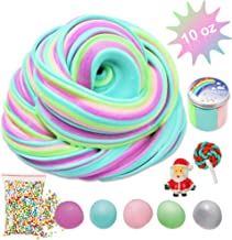Jumbo Fluffy Floam Slime with Foam Beads, Unicorn Color Butter Fluffy Slime Kit Easy Bubble Slime for Girls Boys, Scented Cream Slime Non Sticky Cotton Mud Sludge Party Toy Favor Kids Birthday Ideas