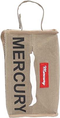 キーストーン(Key Stone) ティッシュケース サンドベージュ W27×D14.5×H8cm マーキュリー キャンバス NEWティッシュボックスカバー MECANTBE