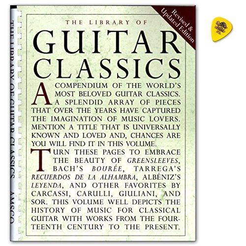 Library Of Guitar Classics - verzameling bekende klassieke gitaarstukken voor gitaar solo - muziekboek met Dunlop Plek - Verlag Music Sales - AM928950-9780825614750
