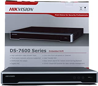 Hikvision DS-7616NI-I2/16P 16CH 16POE 12Mp Resolution 16CH POE NVR for IP Camera Support Two way Audio and Alarm In/OUT