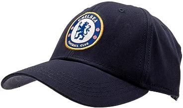 Chelsea FC Crest Baseball Cap - Navy Blue - Adjustable Back - Adult Baseball Cap - Features Team Crest in Full Color - Crest Baseball Cap - Great for any Chelsea FC Soccer Fan