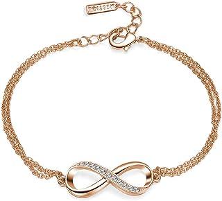 Mestige Rose Gold Infinitely Yours Bracelet with Swarovski Crystals (Rose Gold), Gifts Women Girls, Bracelet, Love, Infini...