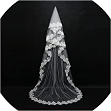 Mariage 3M One Layer Lace Edge White Ivory Cathedral Wedding Veil Long Bridal Veil Wedding Accessories