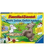 Ravensburger 21298 – kunskap, skratt och grejer – musslang och björn stark för barn, barnlek för 2–4 spelare, frys från 5 år