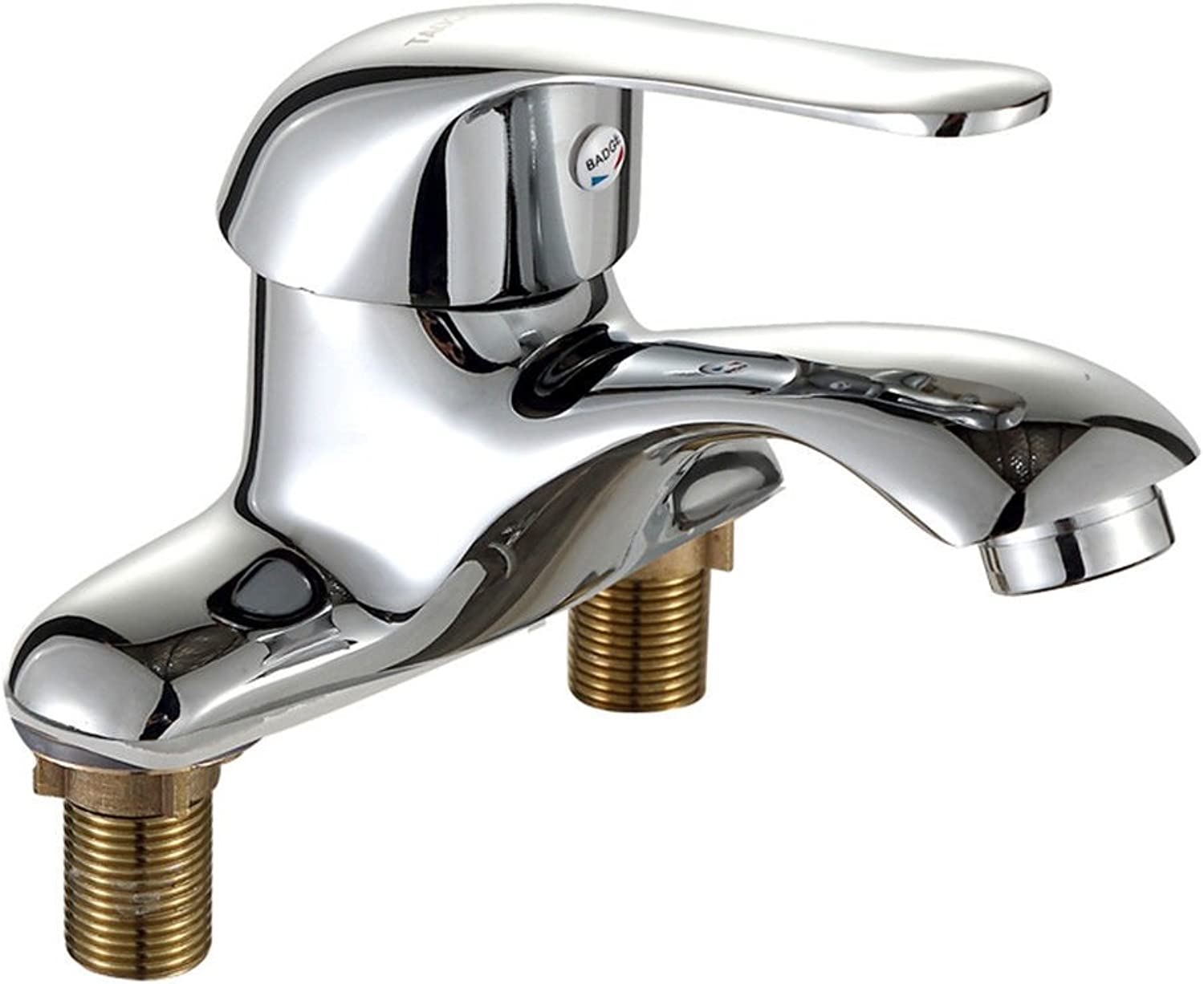 Gyps Faucet Bathroom Brass Basin Mixer Tap Bathroom Kitchen Sink Tap 2?Tap Hole Basin Faucet Hot and Cold Basin Faucet Three Holes,