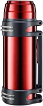 BESTONZON Vacuum Insulated Flask Large Stainless Steel Bottle with Leak Proof for Hiking Travel Red 2000ML