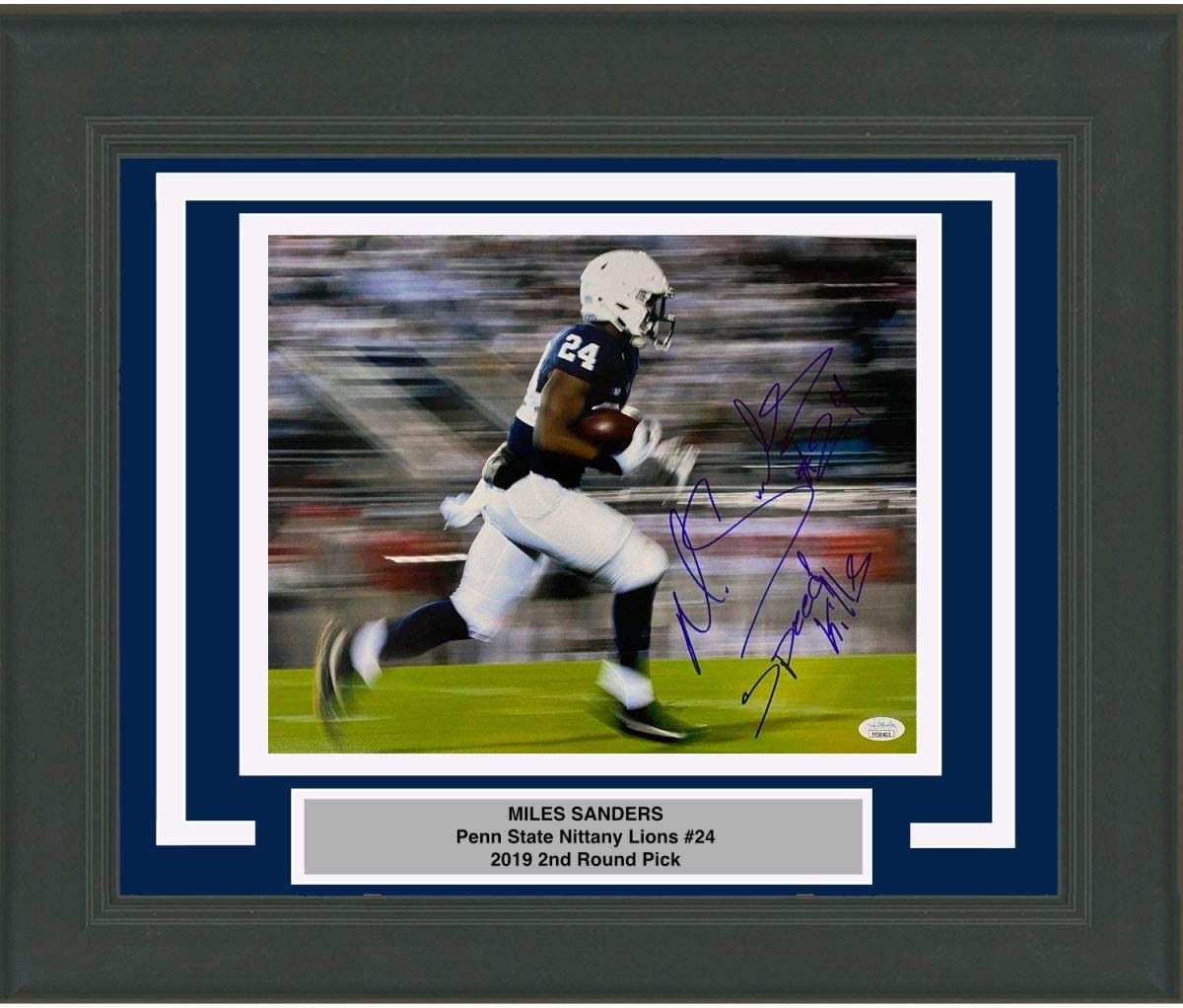 Framed Recommendation Autographed Signed Miles Sanders Nit Super popular specialty store Inscribed State Penn