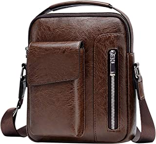 Bageek Men Shoulder Bag Vintage Multi Pocket Top Handle Satchel Bag Crossbody Bag for Travel