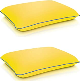 Bed Pillows for Sleeping 2 Pack - Memory Foam Pillow for Side and Back Sleeper - Cooling Pillow with Soft Premium fun cove...