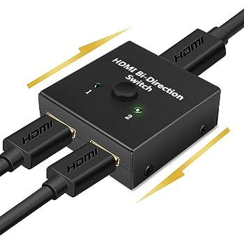 【4K安定版】HDMI 切替器 4K 60HZ hdmi Ver2.0 セレクター 1入力2出力/2入力1出力 双方向 HDCP 2.2 手動 切り替え PS4 Pro DVDプレーヤー HDTV対応