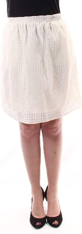 Maison Jules Womens Chiffon Burnout A-Line Skirt