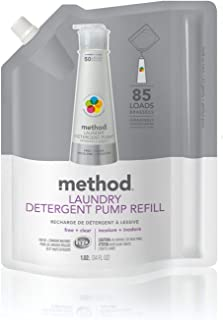 Method Laundry Detergent Refill for Pump Bottles, Free + Clear, 34 Fl Oz, 85 Loads