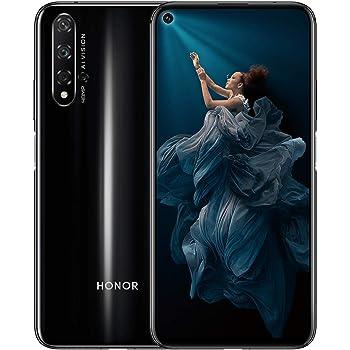 """HONOR 20 Smartphone 6GB+128GB Speicher, 6,26 """"FHD+, Kirin 980 CPU Vierfach-Rückfahrkamera AI 48 + 16 + 2 + 2 MP, 32 MP Frontkamera, seitlich angebrachter Fingerabdruck, NFC, schwarz"""