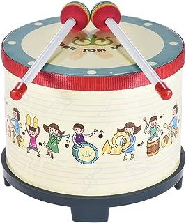 ammoon 8 Pulgadas Tambor de Suelo de Madera Reunión del Carnaval del Club Instrumento de Percusión con 2 Mazos para Niños