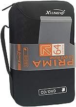 Xiongye New 64 Disc CD/DVD Portable Wallet Storage Organizer Holder Case Bag Album Box Home Office and Car (Black)