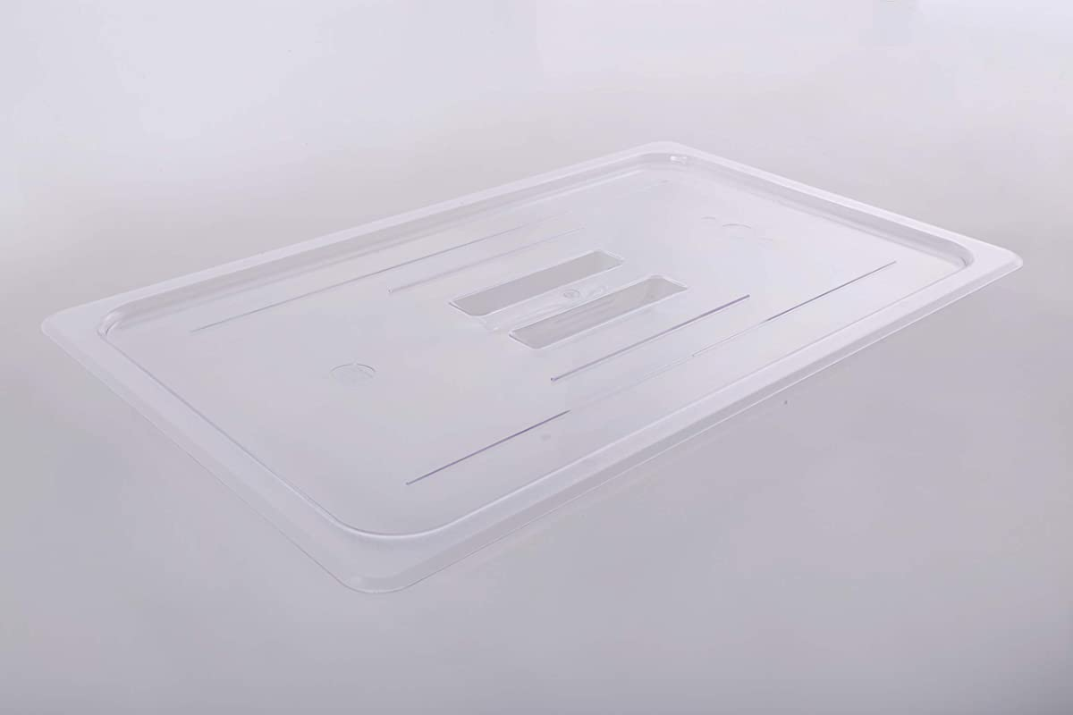 YBS 1 1 Size Clear Polycarbonate Food Pan Lid With Handle Pack Of 6