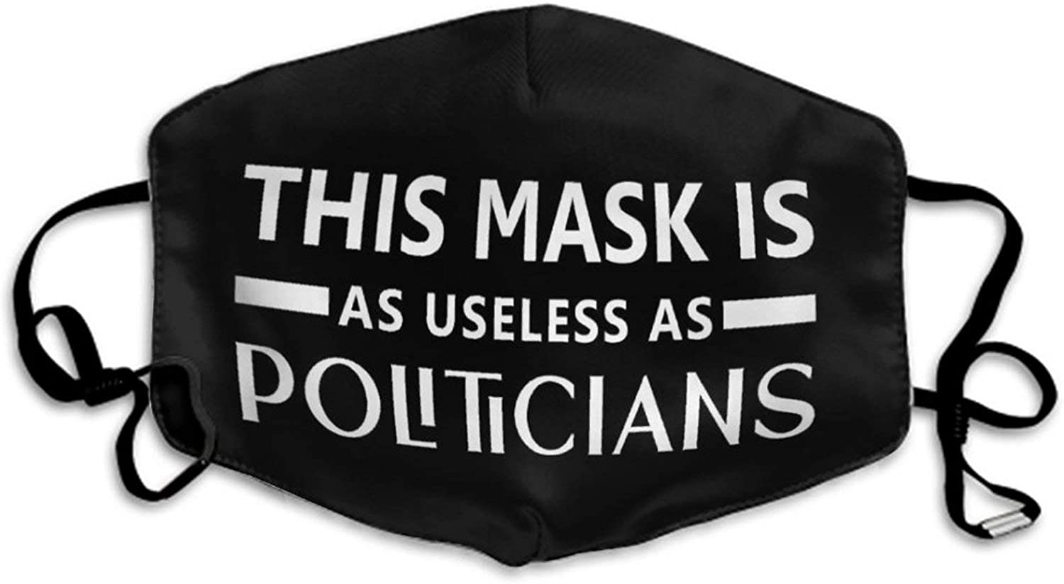 AMRANDOM Unisex Kids Face Scarf Mask This Mask is As Useless As Politicians Mouth Covers for Outdoors Home and Daily Use, Comfy Bandanas Balaclava Face Scarf Mouth Protection