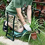 Novinex Folding Gardening Seat and Kneeler With Soft Eva Pad Seat with Stool Chair Pouch Home Gardening Supplies Garden Home Kneeler Seat Pad