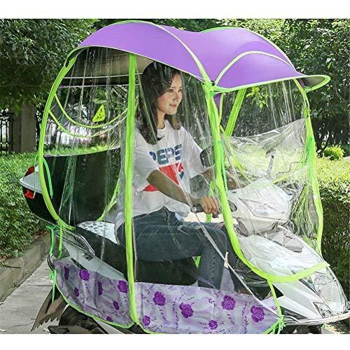 Universele Outdoor Auto Motor Scooter Paraplu Motorfiets Regenhoes, Volledig Gesloten Motor Scooter Paraplu Mobiliteit Zonnescherm \u0026 Waterdichte Regenhoes
