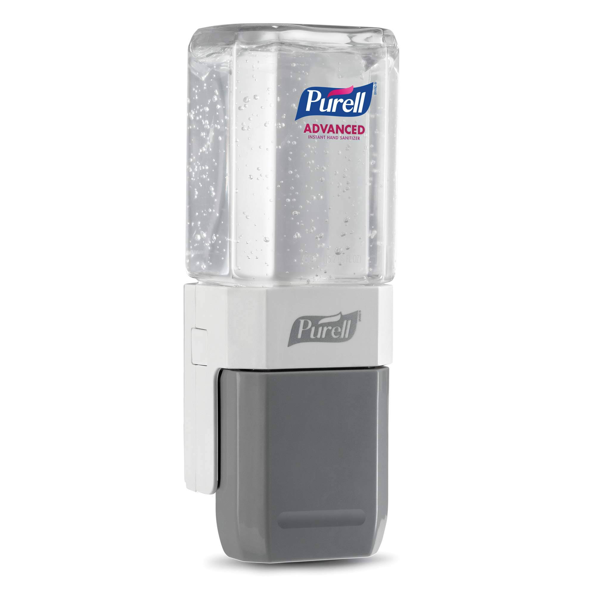 퓨렐 ES 푸쉬 디스펜서, 리필용 손세정제 세트 구성 PURELL Advanced Hand Sanitizer ES System Starter Kit, 1-450 mL Gel Sanitizer Refill + 1- PURELL ES Compact Push-Style Dispenser - 1450-D8