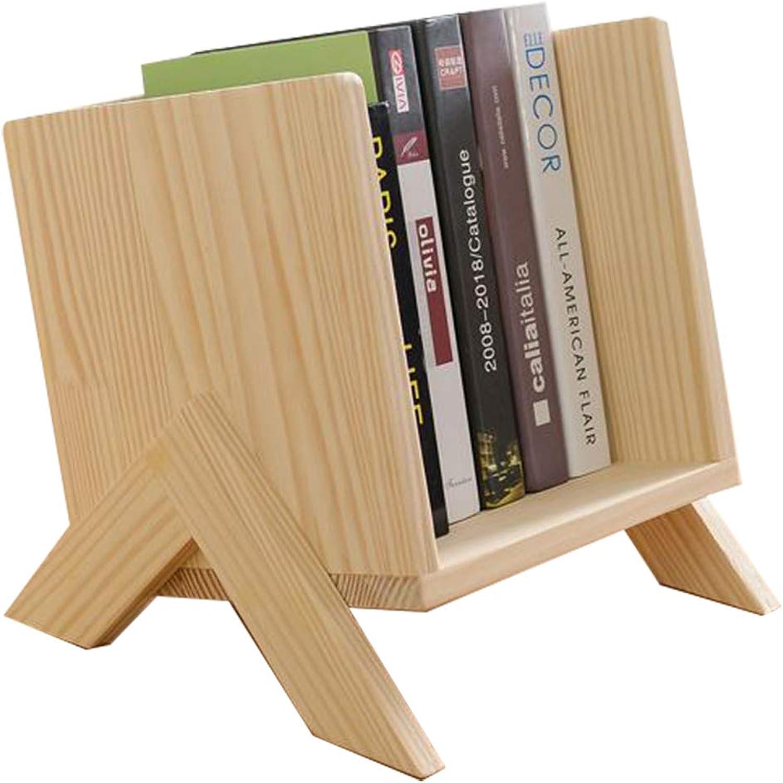 Sunshin-House Mini Book Shelves CD Cabinet Natural Wood(Pine)