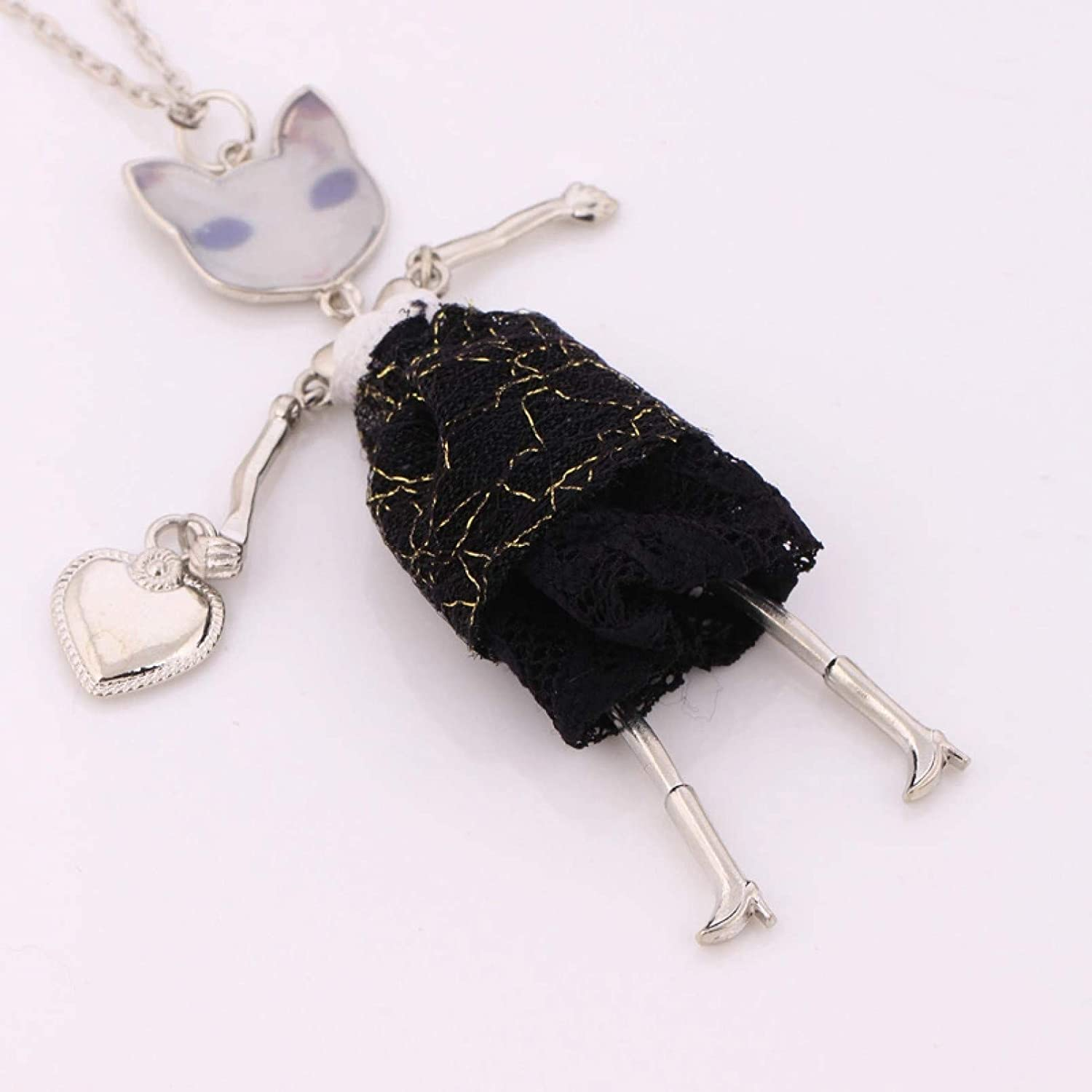 Necklace Pendant fashion lady doll charms long chains choker long necklace & pendant statement necklace women collares jewelry big charms hot Christmas Mother's Day Valentine's Day Birthday Gift