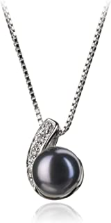 Claudia 7-8mm AA Quality Freshwater 925 Sterling Silver Cultured Pearl Pendant For Women