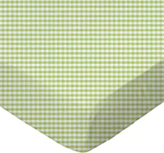 product image for SheetWorld Fitted Cradle Sheet - Sage Gingham Jersey Knit - Made In USA