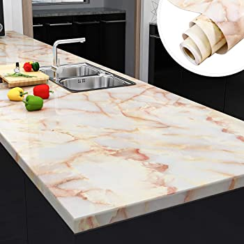 Yenhome Jade Marble Contact Paper 24x118 Inch Kitchen Counter Top Covers Peel And Stick Wallpaper For Cabinets Bathroom Self Adhesive Removable Wallpaper Granite Waterproof Countertop Contact Paper Amazon Com