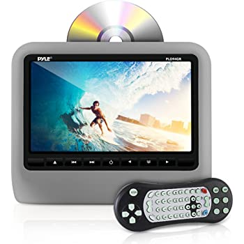 Universal Car Headrest Mount Monitor - 9 Inch Vehicle Multimedia DVD Player - Audio Video Entertainment System w/HDMI Input & Hi-Res TV LCD Digital Screen - Mounting Bracket Included - Pyle PLD94GR