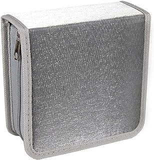 Caja de almacenamiento de CD de 40 discos con Disc paquete, Registro bolsa de organizar caja de almacenamiento, a prueba d...