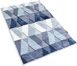 "Bath Rugs for Bathroom 24"" x 36"" Non-Slip Blue Bath Mats Machine Washable Absorbent Shaggy Floor Foot Mat Microfiber Strip..."