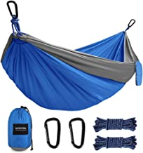 Kootek Camping Hammock Portable Indoor Outdoor Tree Hammock with 2 Hanging Ropes, Lightweight Nylon Parachute Hammocks for Backpacking, Travel, Beach, Backyard, Hiking