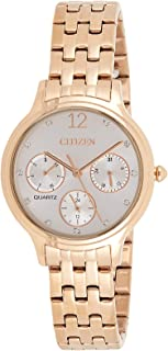 CITIZEN Womens Quartz Watch, Analog Display and Stainless Steel Strap - ED8183-54A