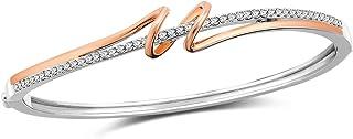 SNZM Bracciale Oro Rosa per Donna Bracciali Regolabili con Cristalli Swarovski Bracciale per Donna Regali di Compleanno pe...