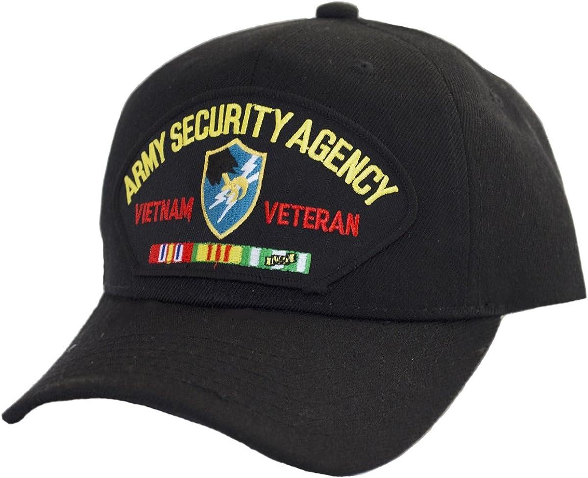 Military Productions Army Security Agency Vietnam Veteran Cap Black