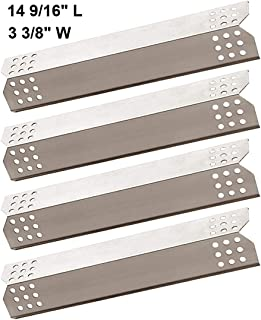 BBQ funland SH7371 (4-pack) Stainless Steel Heat Plate, Heat Shield, Heat Tent, Burner Cover Replacement for Select Grill Master and Uberhaus Gas Grill Models