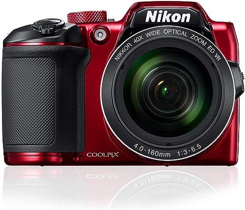 Nikon Coolpix B500 Digital Camera, Red