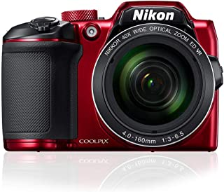Nikon Coolpix B500 Digital Camera, Red
