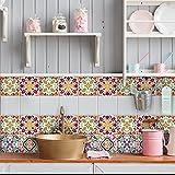 54 piezas Azulejo adhesivo 10x10 cm PS00037 Mosaico de Azulejos Adhesivo de pared Adhesivo...